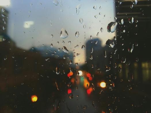 Droplets of rain