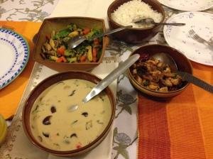 Homemade Thai food
