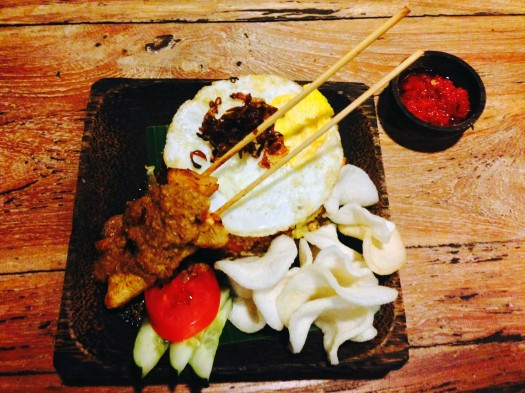The first of the many meals of Nasi Goreng in Ubud