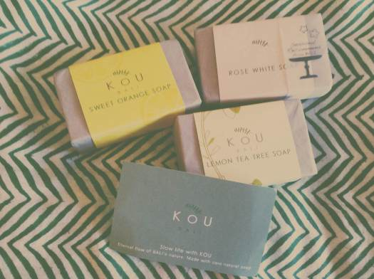 Divine handcrafted soaps from the pretty KOU Bali store