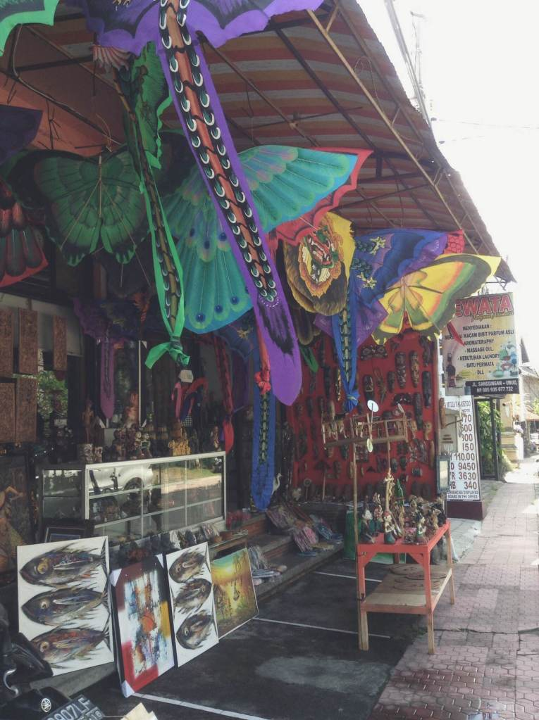 One of the many souvenir stores in Ubud