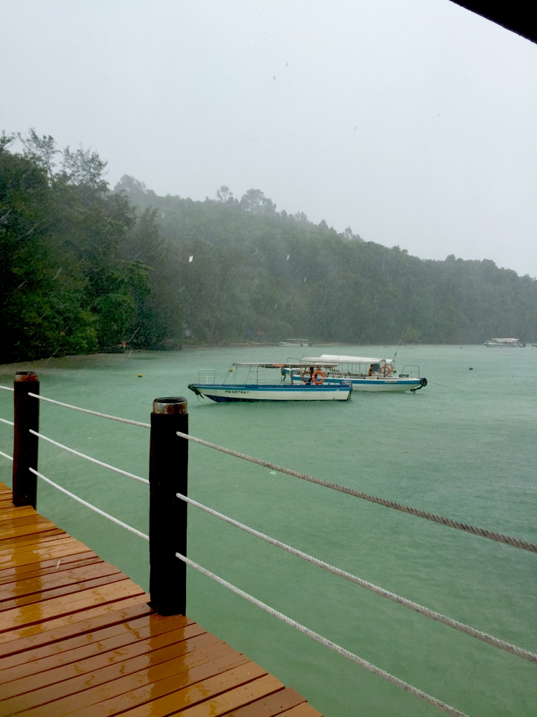 View from the jetty at Sapi Island