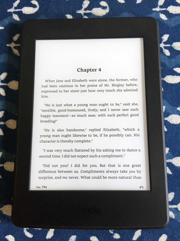 Kindle Paperwhite Bookerly Font