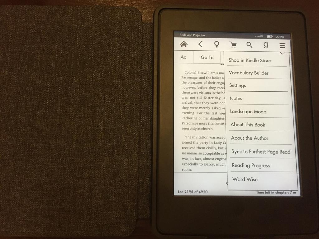 Kindle Paperwhite Dropdown
